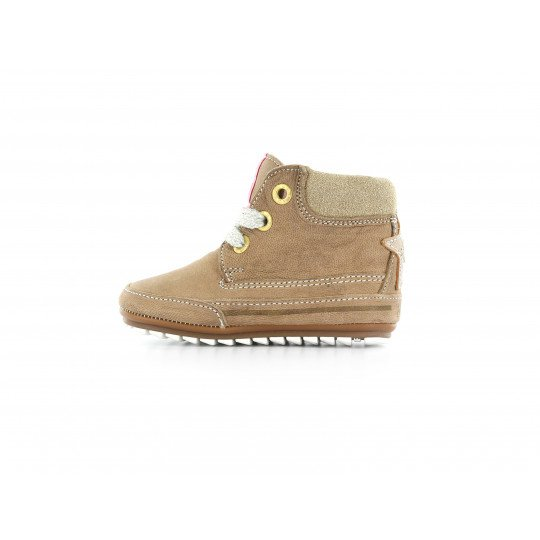 Shoesme veterschoen taupe