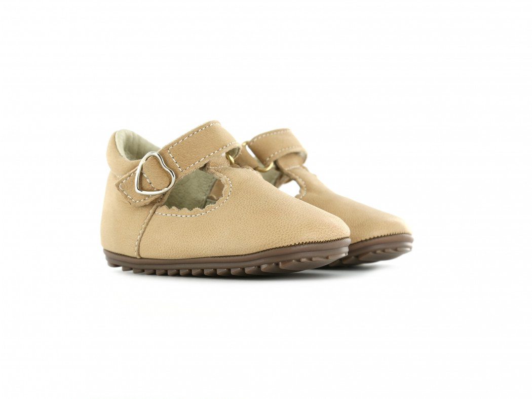 Shoesme schattig T-band schoentje in taupe