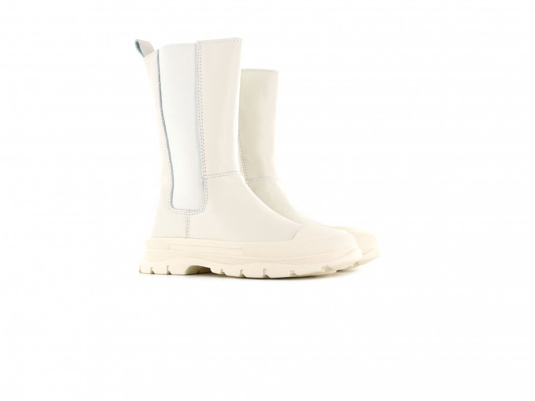 Shoesme witte hoge chelseaboots