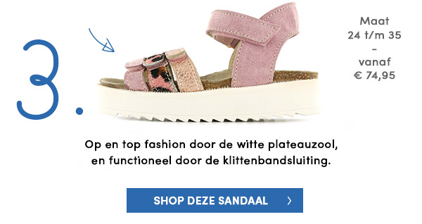 Shoesme fashion kindersandaal met plateauzool