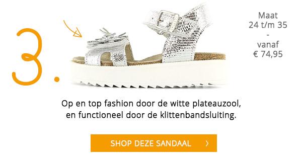 Shoesme fashion kindersandaal met plateauzool