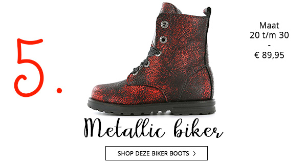 Shoesme metallic biker boots