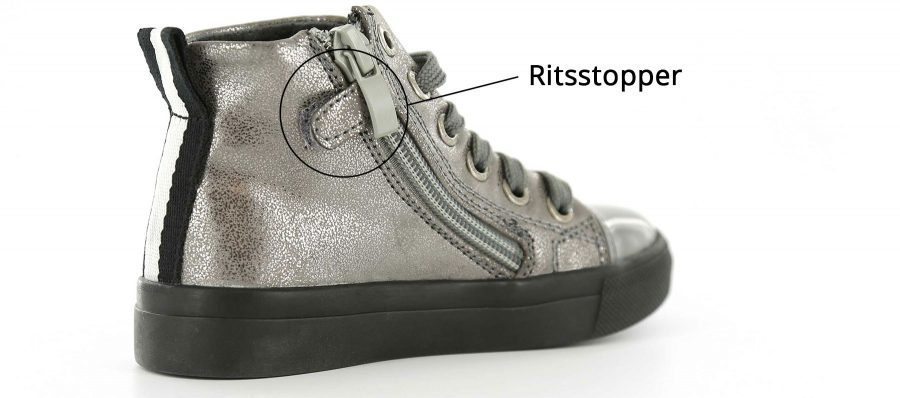 Kindersneakers met ritsstopper