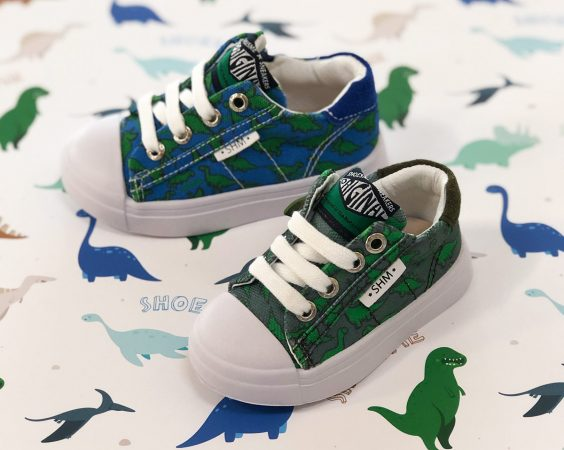 Shoesme canvassneakers met dino's
