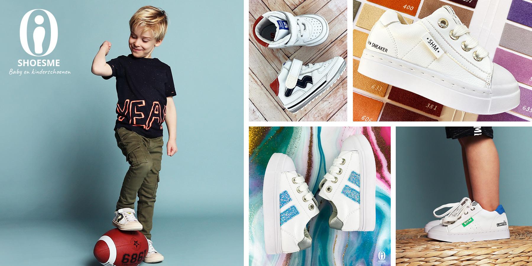 Witte schoentjes met een beetje kleur