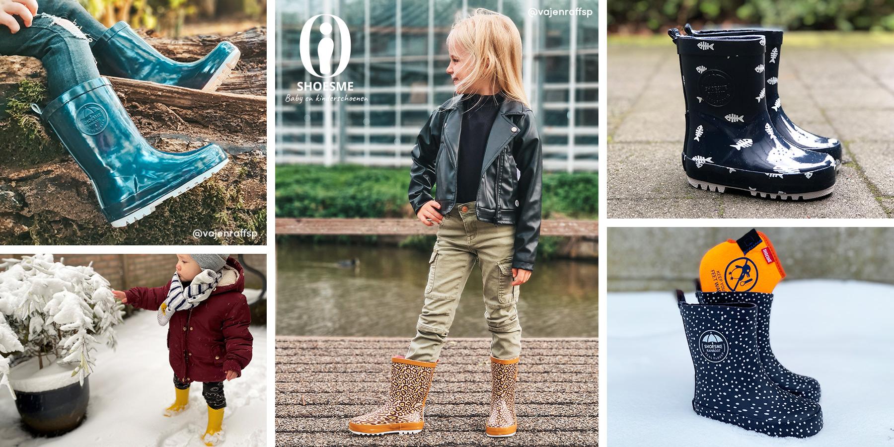 Shoesme regenlaarzen met fleecesokken